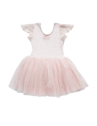 Flutter Sleeve Tutu Dress