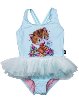 Kitty Kat Tulle One Piece (Girls 3-8 Yrs)
