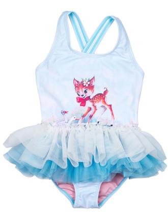 Doe A Deer SS One Piece With Skirt (Girls 3-8 Yrs)