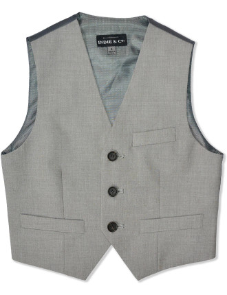 Indie & Co Formal Vest - Silver - 2-7