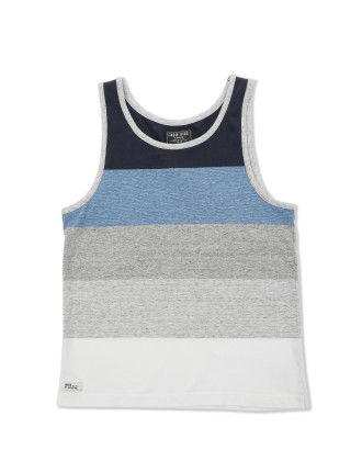 Marle Block Singlet (Boys 3-7 Yrs)