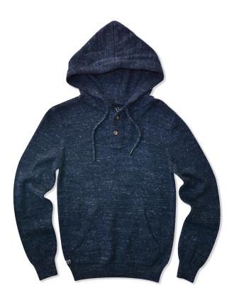 Contrast Hood Knit