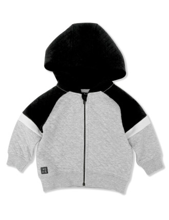 Quilted Baseball Hoodie
