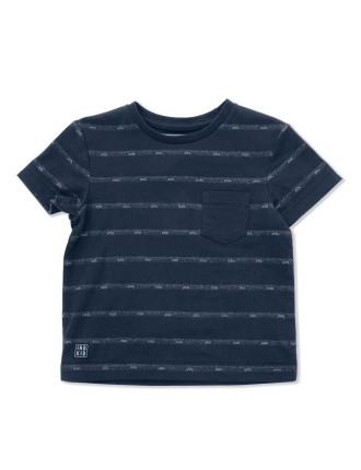 2nd Summer Jacquard Stripe Tee (Boys 0-2 Yrs)