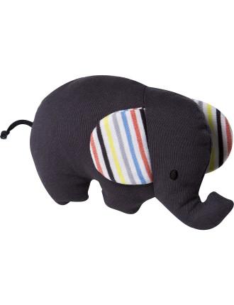 Zane Flat Elephant Rattle