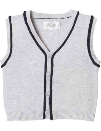 Logan Button Down Knit Vest