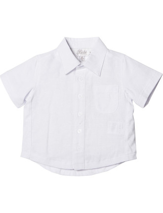 Logan Knit/Linen Short Sleeve Shirt