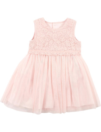 Special Occasion Bebe Lace Yoke Dress