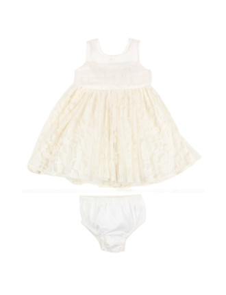 Special Occasion Lace Tuille Dress W Bow