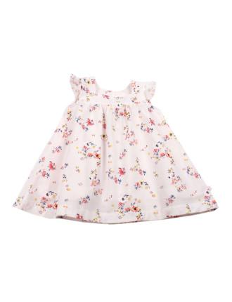 Piper Print Short Sleeve Yolk Dress