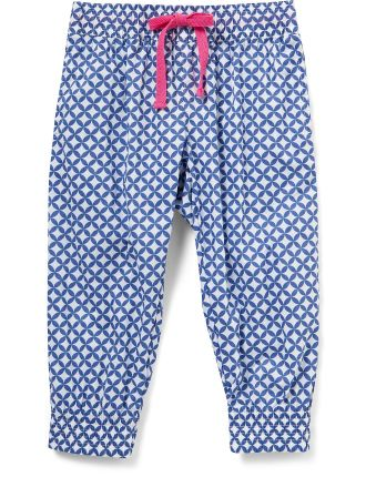 Girls Woven Print Pant