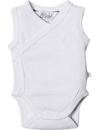 White Spot Wrap Bodysuit