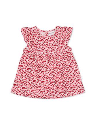 Loveheart Frill Sleeve Dress