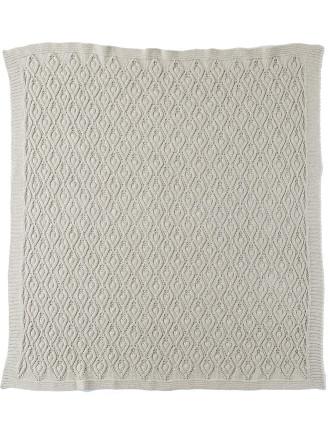 Unisex Textured Eyelet Knit Blanket