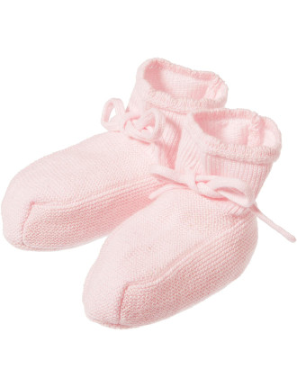 Girls Knitted Booties