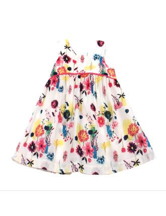 Ella Print Yoke Dress