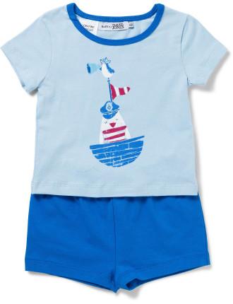 Baby Boys Sleep Set - Blue Nautical