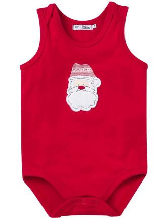 Xmas Sleeveless Xmas Bodysuit Santa