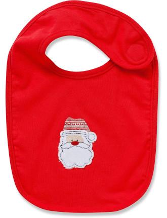 Xmas Bib Red Santa