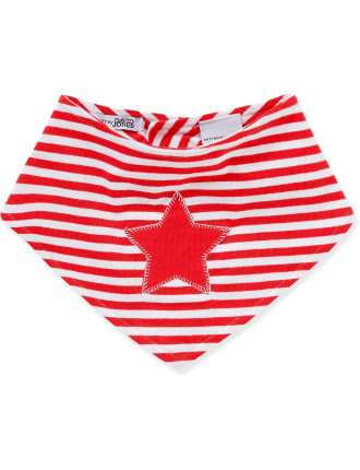 Xmas Handkerchief Bib Stripe Star