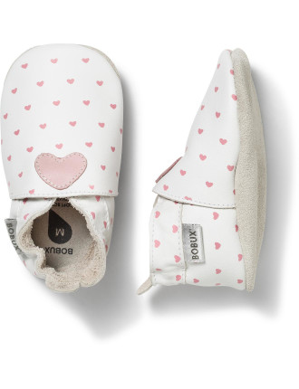 Bobux Soft Sole Pink Hearts