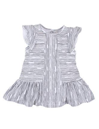 Girls Speckle Stripe Dress (3M-24M)