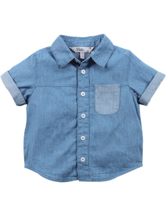 Wyatt Short Sleeve Chambray Shirt