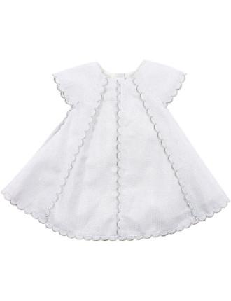 Bebe Scallop Trimmed Dress