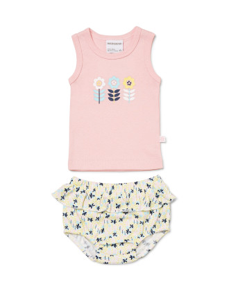 Singlet & Frilled Bloomer Set