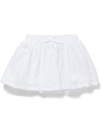 Pull On Skirt  - Broderie Anglaise