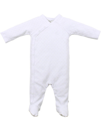 White Spot Wrap Coverall
