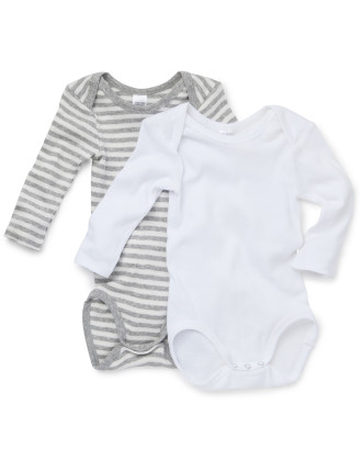 Basic L/S Bodysuit 2 Pk