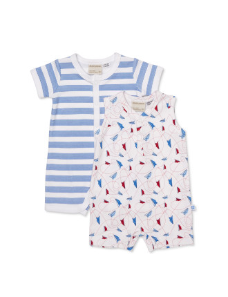 2pk Rompers - Paper Planes
