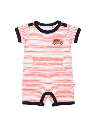 Boys Short Sleeve Romper (NB - 1Y)