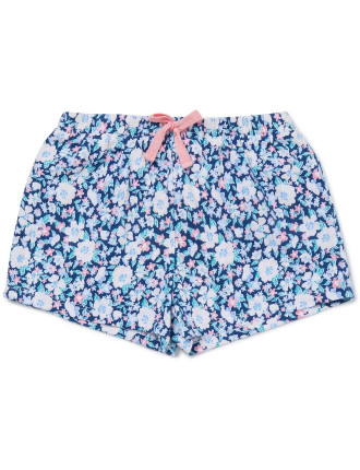 Printed Cotton Floral Short