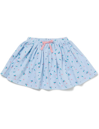 Cotton Jersey Skirt With Bloomer