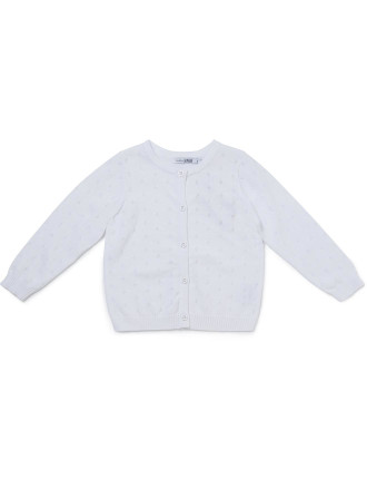 True Knit Cardigan White
