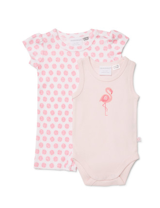 Marq Flamingo Romper + Bodysuit
