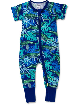 Boys Bonds Ss Zip Romper