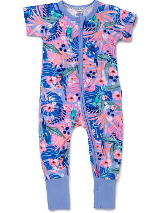 Girls Bonds Ss Zip Romper