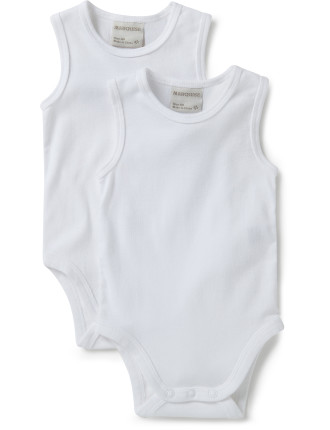 2pk Sleeveless Bodysuits