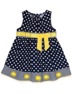 Girls Spot Bow Dress $27.96