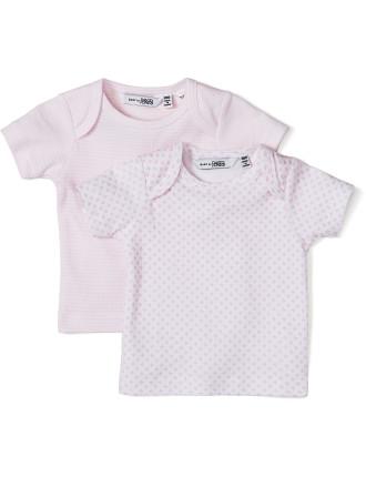 Baby Girls 2 Pack Tee