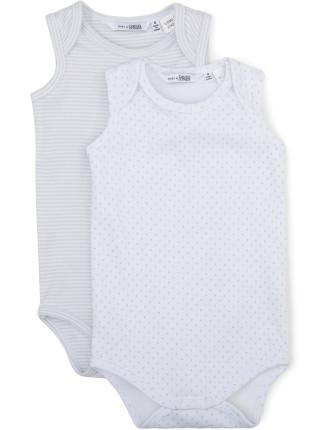 Baby Unisex 2 Pack Sleeveless Envelope Bodysuit