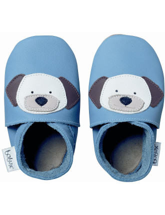 Boys Soft Sole Shoes Blue Puppy
