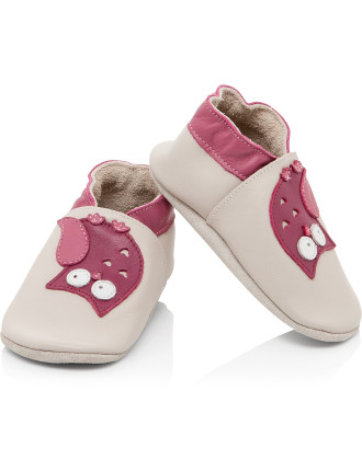 Girls Bobux Soft Sole Shoes Owl
