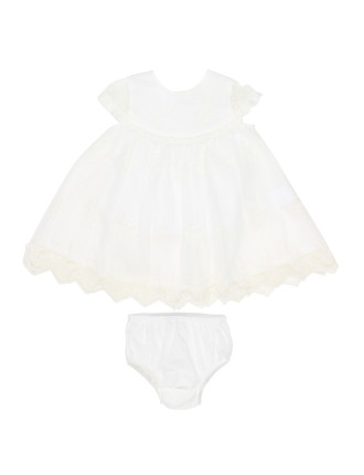 Girls S/S Lace Dress (3-24M)