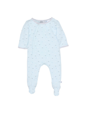 Boys Avery L/S Zip Romper (NB - 9M)