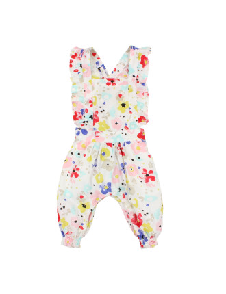 Girls Blossom Floral Overalls (3-24M)