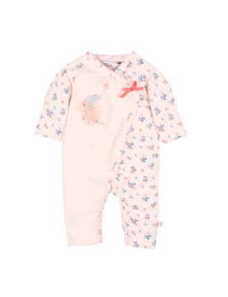 Girls Alexa S/S Wrap Romper (0-9M)